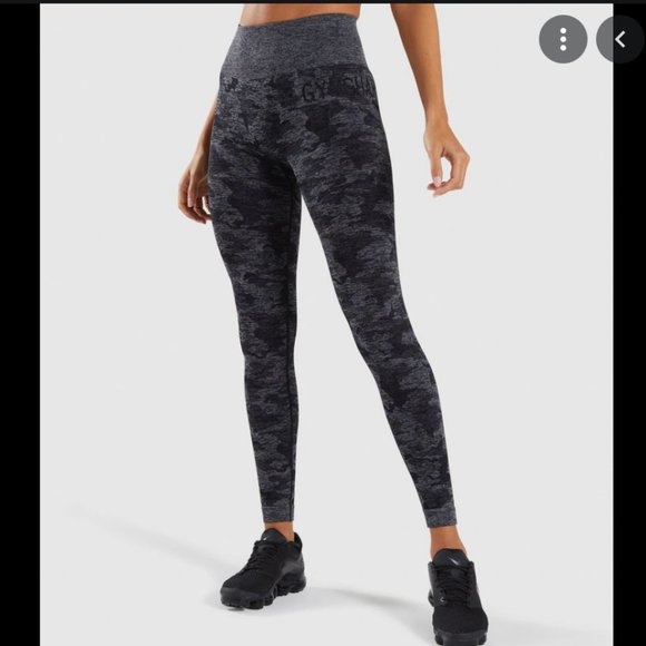 Gymshark ADAPT CAMO SEAMLESS LEGGINGS- S